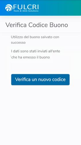 Piattaforma voucher - nuovo codice